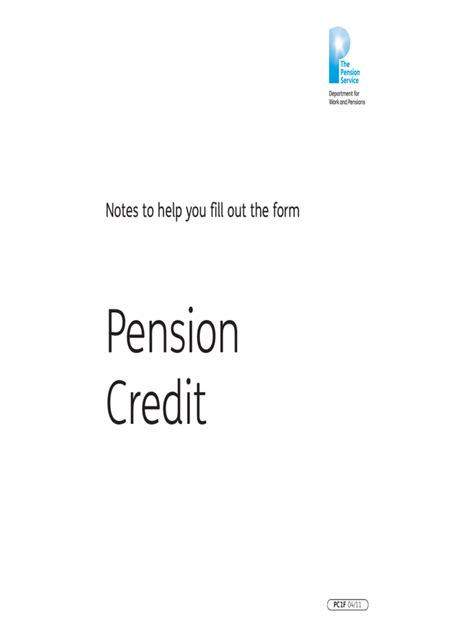Pension Credit Form Pension Credit Claim Form 2 Free Templates In Pdf Word Excel