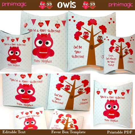 owl pillow box template 5 best images of printable template owl box free
