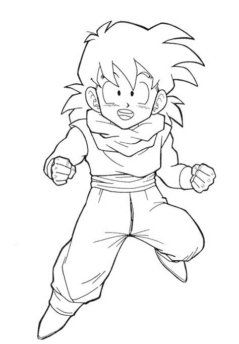 beautiful picture about kid goten coloring page farms