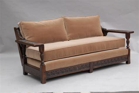 sofa spanish spanish revival carved wood 1920s sofa at 1stdibs
