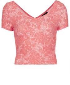 topshop textured crop top in light pink lyst