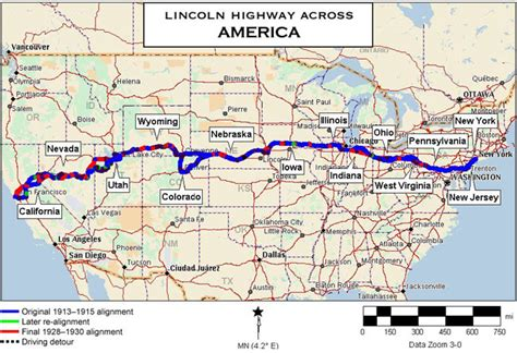 map us hwy 80 lincoln highway stockton california historic