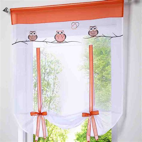 owl curtain rod 2016 new arrival voile window blinds curtain owl