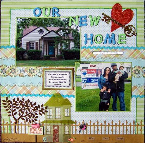 New Home Layouts by Our New Home Scrapbook Crafts