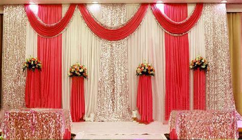 wedding backdrop design red 20x10ft pleated wedding backdrop curtain background decor