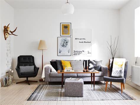 decorar con amarillo y gris blog decoraci 243 n estilo scandinavian living room