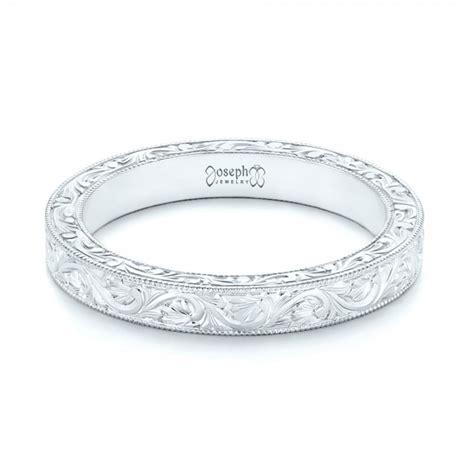 Wedding Bands Custom by Custom Engraved Wedding Band 102850