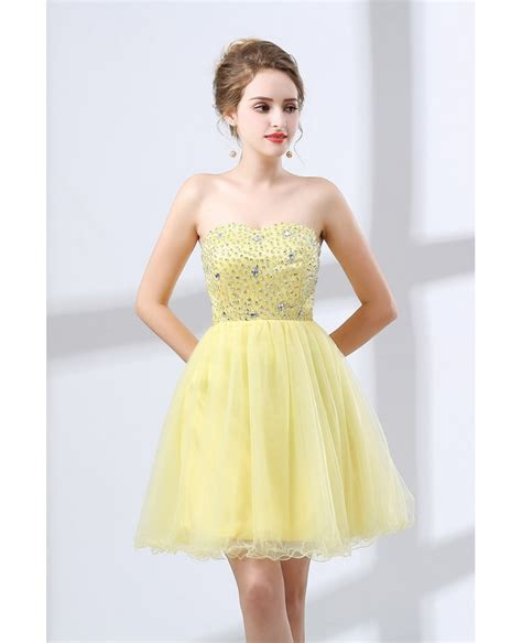 cheap beaded prom dresses cheap cocktail yellow prom dress beaded for homecoming