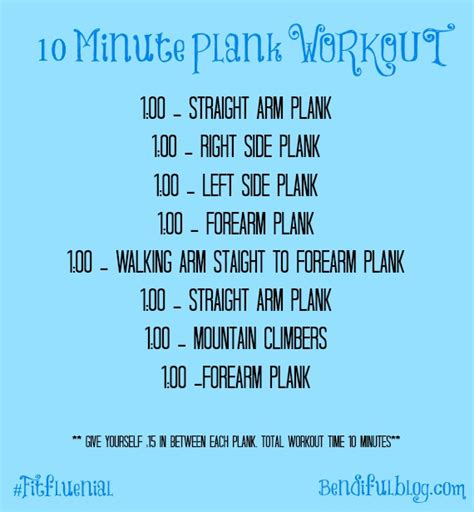10 minute fitness challenge bendiful