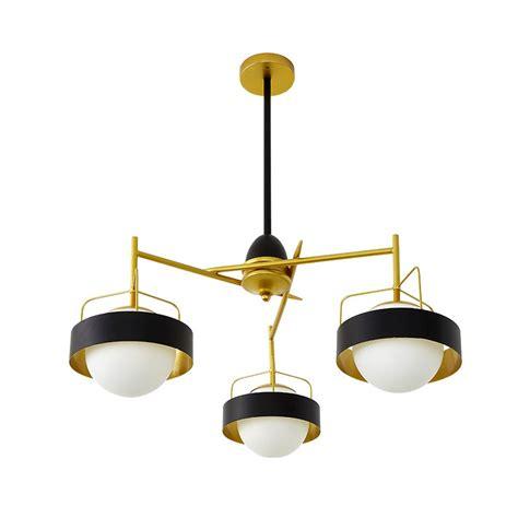 Black Ceiling Lights Modern 3 Light Modern Contemporary Ceiling Lights Copper Plating Chandelier With White Black
