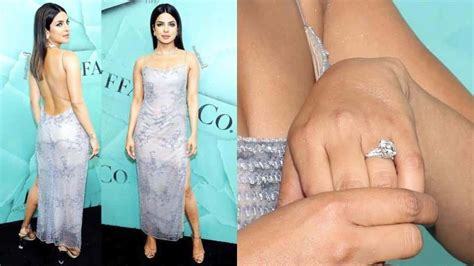 priyanka chopra tiffany engagement ring priyanka chopra flaunts massive engagement ring hangs out