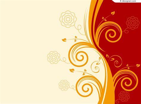 orange pattern vector 4 designer orange decorative background pattern vector