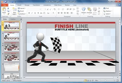 powerpoint templates free download racing finish line template for powerpoint with animations and