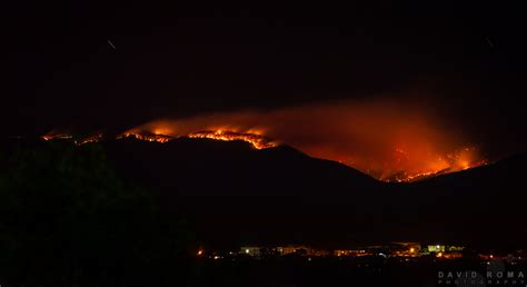 mountains  fire