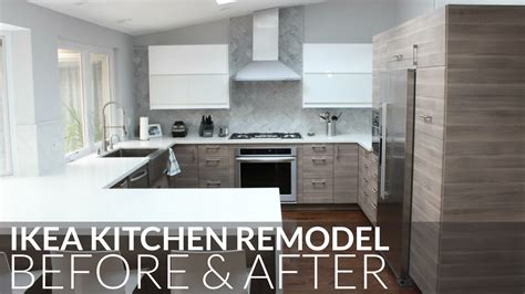 before after kitchen remodel for under 65 ikea kitchen remodel before after orange county youtube