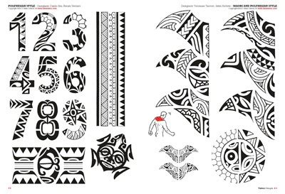 tribal number tattoos tribal maori polynesian