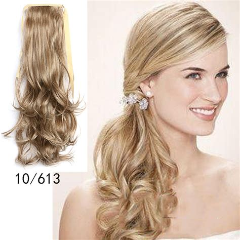 hair extensions curvy wavy clip pony in fashion 50cm curly wavy style ponytail hair