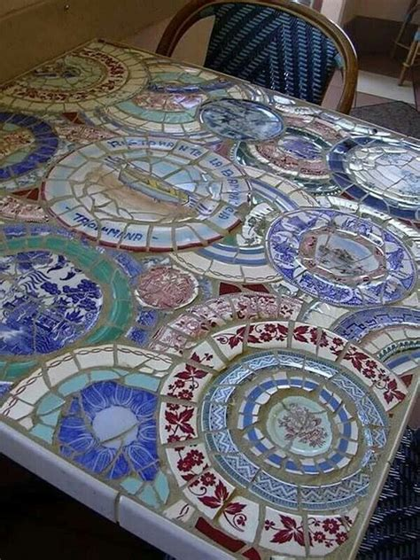 kitchen table tile mosaic ideas
