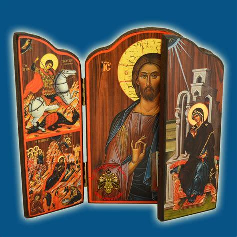 Good Greek Orthodox Church Supplies #5: 2301_Triptych_Orthodox_Icon_Annunciation_Front_A_Nioras.jpg