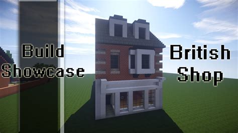 how to build a shop minecraft build showcase britsh high street shop youtube