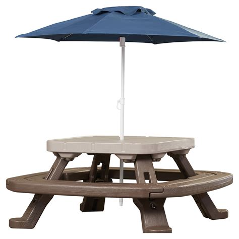picnic table with umbrella tikes endless adventures fold n store umbrella