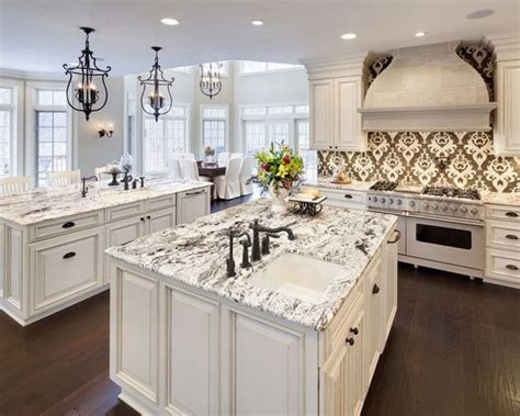 Delicatus White Granite Dark Floors W O The Crazy White Kitchen Cabinets And Granite Countertops