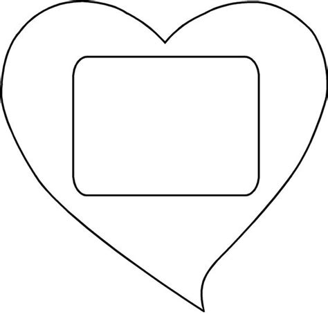 large heart cut out template heart cut out template