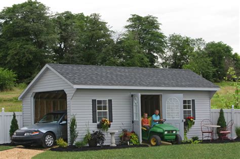 Car Garage Shed by Prefab One Car Garage Sheds Garage And Shed Philadelphia By Sheds Unlimited Inc
