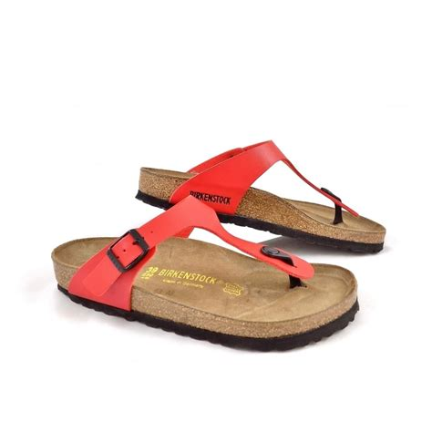 birkenstock sandal sale birkenstock gizeh toe post sandals in cherry