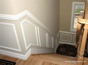 Kitchen Cabinet Trim Moulding Wainscot And Picture Frames Contemporary Staircase