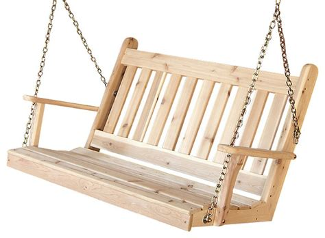 redwood porch swing 5 cedar porch swing traditional english redwood stain