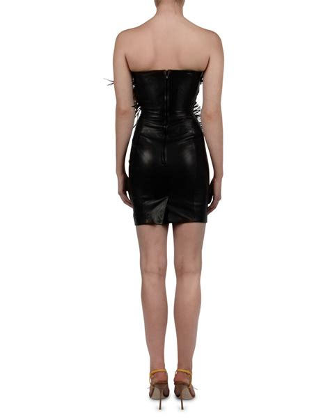 Dress Triball 2 dsquared2 tribal couture leather dress dresses
