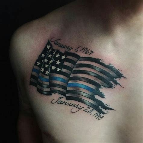 thin blue line tattoo designs 50 best images about on american flag
