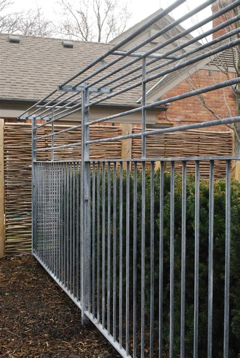 steel fence with a shelf top from branch privacy screening hard material g boundaries