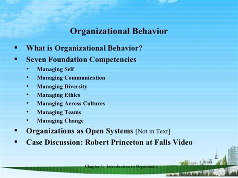 Organisational Behaviour Notes For Mba Ppt by Organizational Behavior Ppt Bec Doms