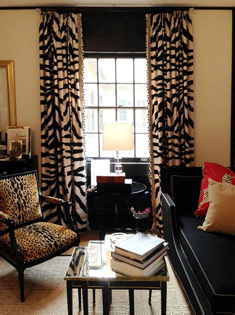 zebra print drapes knight moves jlg showhouse detour at high point window