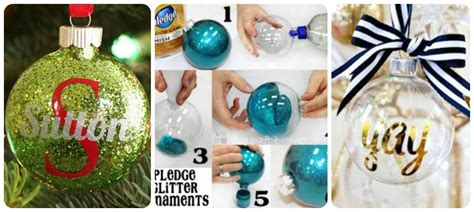 diy personalized ornaments how to make diy personalized glitter ornaments