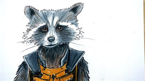 T Shirt Pria Guardianz Of The Galaxy 1 How To Draw Rocket Raccoon From Guardians Of The Galaxy