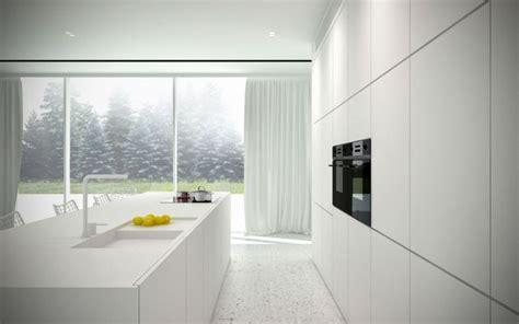 espacio en blanco mas de  ideas  cocinas minimalistas