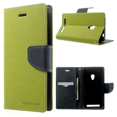 Asus Zenfone 4 Mercury Fancy Flip Casing Cover Merah Biru asus zenfone 4 a450cg green fancy wallet