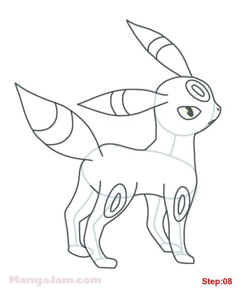 pokemon coloring pages umbreon how to draw umbreon from pokemon mangajam com