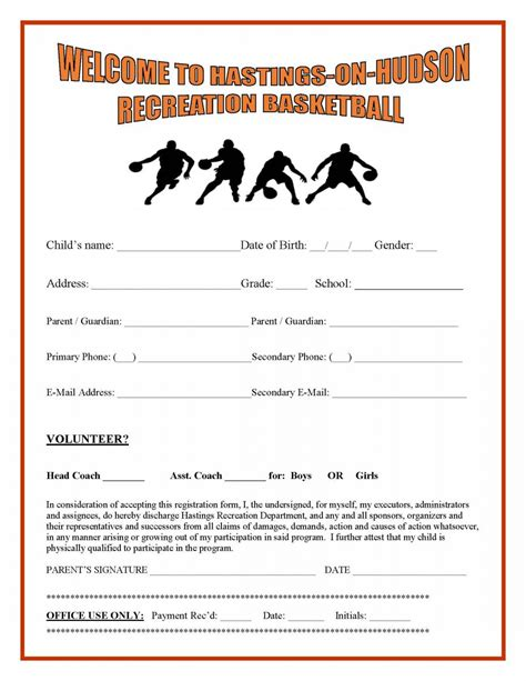 rec basketball registration is open village of hastings