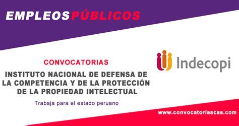 formatos instituto de la propiedad ipgobhn convocatoria indecopi planilla 6 plazas derecho