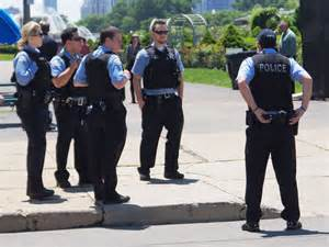 chicago department officers facing at blues fes