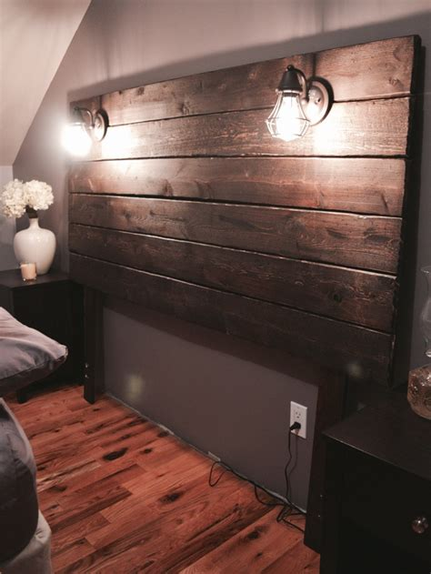 build a wood headboard build a rustic wooden headboard live your goals