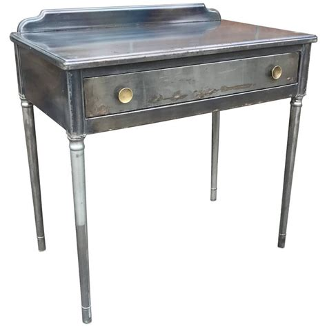 Industrial Vanity Table Industrial Brushed Steel Vanity By Simmons Company Furniture At 1stdibs