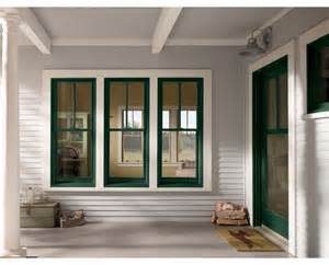 Flat trim white forest green windows amp patio door 2x1 grille
