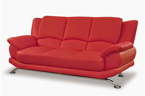 modern red leather couch red leather sofa
