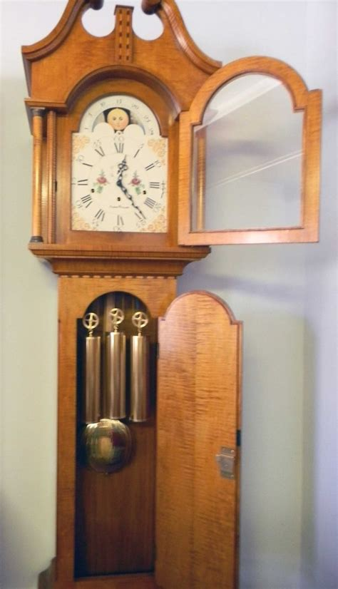Handmade Grandfather Clock - buy a handmade federal style grandfather clock