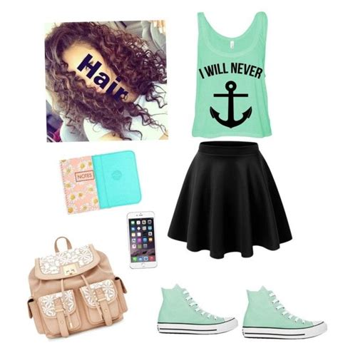 back to school hairstyles and outfits first day of middle school by alecookiezz on polyvore